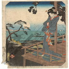 歌川広重: Shirasuga: The legend of Onnaya (Station 32, Print 33) - Austrian Museum of Applied Arts