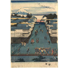 Utagawa Hiroshige: General view of Kasumigaseki - Austrian Museum of Applied Arts