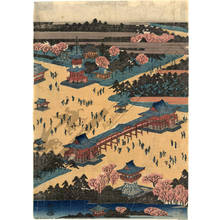 歌川広重: General view of Toeizan at Ueno - Austrian Museum of Applied Arts