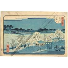 Utagawa Hiroshige II: Mimeguri embankment along the Sumida river - Austrian Museum of Applied Arts
