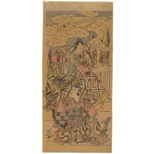 Katsukawa Shuncho: Ichikawa Danjuro and Ichikawa Monnosuke (title not original) - Austrian Museum of Applied Arts