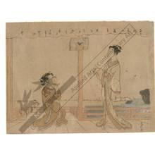 Go Shun: Girls on a veranda (title not original) - Austrian Museum of Applied Arts