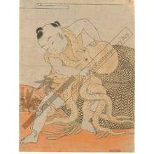Isoda Koryusai: Fight with an octopus (title not original) - Austrian Museum of Applied Arts