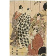 Utagawa Toyokuni I: Third floor of a theatre in Edo - Austrian Museum of Applied Arts