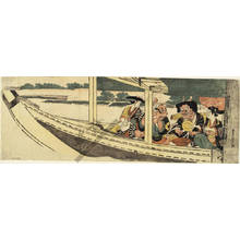 Utagawa Toyohiro: A pleasure trip on a boat (title not original) - Austrian Museum of Applied Arts