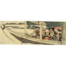 Utagawa Toyohiro: A pleasure trip on a boat (title not original) - Austrian Museum of Applied Arts