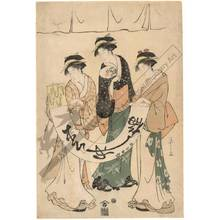 Hosoda Eishi: Three beauties (title not original) - Austrian Museum of Applied Arts