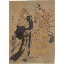 Katsukawa Shunsho: Segawa Kikunojo and Nakamura Nakazo (title not original) - Austrian Museum of Applied Arts