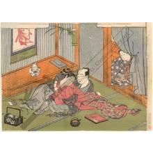 鈴木春信: Lovers (title not original) - Austrian Museum of Applied Arts