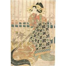 Kikugawa Eizan: Courtesan Karauta from the Choji house - Austrian Museum of Applied Arts