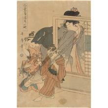 Kitagawa Utamaro: Komachi at Kiyomizu temple - Austrian Museum of Applied Arts