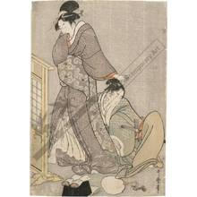Kitagawa Utamaro: Beauty with young man (title not original) - Austrian Museum of Applied Arts
