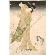 Kitagawa Utamaro: Woman with a child on her back (title not original) - Austrian Museum of Applied Arts