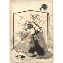 Kitagawa Utamaro: Lovers (title not original) - Austrian Museum of Applied Arts