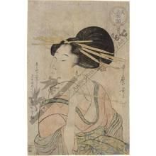 Kitagawa Utamaro: Courtesan with a pipe (title not original) - Austrian Museum of Applied Arts