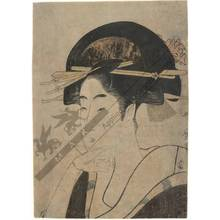 Kitagawa Utamaro: Young woman (title not original) - Austrian Museum of Applied Arts