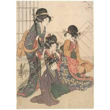 Kitagawa Utamaro: Dance performance (title not original) - Austrian Museum of Applied Arts