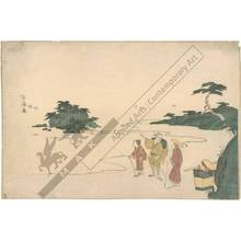 Kubo: Travelers at Enoshima (title not original) - Austrian Museum of Applied Arts