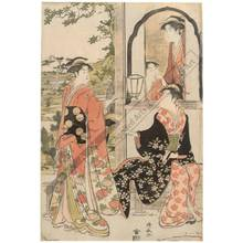 Torii Kiyonaga: Yoshitsune and Joruri (title not original) - Austrian Museum of Applied Arts