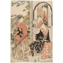 鳥居清長: Yoshitsune and Joruri (title not original) - Austrian Museum of Applied Arts