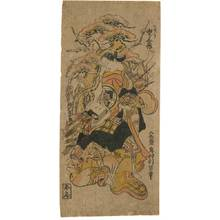 Okumura Toshinobu: Yamashita Kinsaku from Osaka and Ichikawa Danjuro - Austrian Museum of Applied Arts