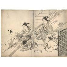 Nishikawa Sukenobu: Shadow-play (title not original) - Austrian Museum of Applied Arts