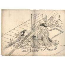 西川祐信: Incense-smelling game (title not original) - Austrian Museum of Applied Arts