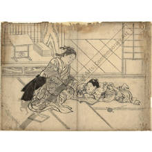 Nishikawa Sukenobu: Woman and child reading a book (title not original) - Austrian Museum of Applied Arts