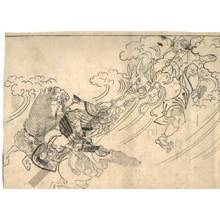 菱川師宣: Raiko in the fight against Shutendoji (title not original) - Austrian Museum of Applied Arts