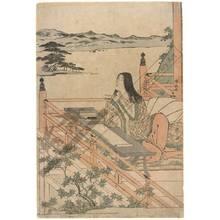 鳥居清長: The poetess Murasaki Shikibu (title not original) - Austrian Museum of Applied Arts