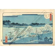 二歌川広重: Mimeguri embankment along the Sumida river - Austrian Museum of Applied Arts
