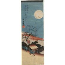 歌川広重: Autumn moon above Emonsaka near New Yoshiwara - Austrian Museum of Applied Arts