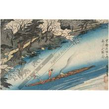 Utagawa Hiroshige: Cherry trees in full bloom at Arashiyama - Austrian Museum of Applied Arts
