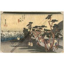 Utagawa Hiroshige: Oiso: Tora's rain (station 8, print 9) - Austrian Museum of Applied Arts