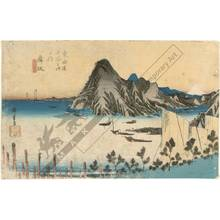 歌川広重: Maisaka: The Imagiri-promontory (station 30, print 31) - Austrian Museum of Applied Arts