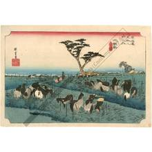 歌川広重: Chiryu: The summer horse fair (Station 39, Print 40) - Austrian Museum of Applied Arts