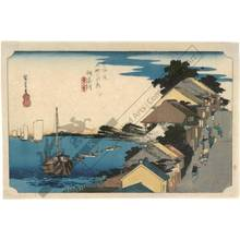 歌川広重: Kanagawa: View of the hill (station 3, print 4) - Austrian Museum of Applied Arts