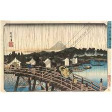 Utagawa Hiroshige: Shower over the Nihon-Bridge - Austrian Museum of Applied Arts