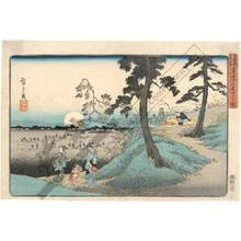 Utagawa Hiroshige: Listening to the insects at Mount Dokan - Austrian Museum of Applied Arts
