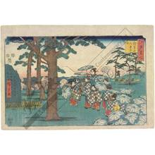Utagawa Hiroshige: Viewing flowers in Asukayama - Austrian Museum of Applied Arts