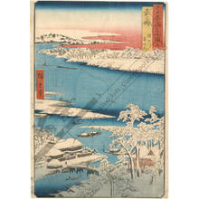 Utagawa Hiroshige: Province of Musashi: Morning after Snow on the Sumida river - Austrian Museum of Applied Arts