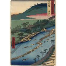 歌川広重: Province of Chikugo: Yanagase - Austrian Museum of Applied Arts