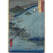 歌川広重: Province of Chikuzen: Road in the Sea, Hakozaki - Austrian Museum of Applied Arts