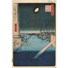 歌川広重: Eitai bridge and Tsukuda island - Austrian Museum of Applied Arts