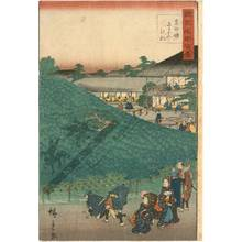 Utagawa Hiroshige II: Pine at the Naniwa teahouse in Sakai in the province of Izumi - Austrian Museum of Applied Arts