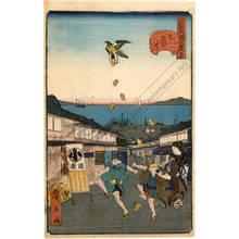 歌川広景: Number 27: The Iigura street at Shiba - Austrian Museum of Applied Arts
