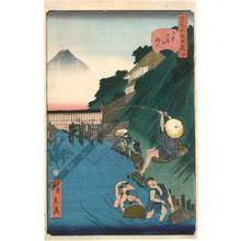 Utagawa Hirokage: Number 4: The angler of Ochanomizu - Austrian Museum of Applied Arts