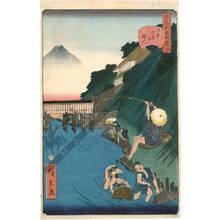Utagawa Hirokage: Number 4: The angler of Ochanomizu - Austrian Museum of Applied Arts
