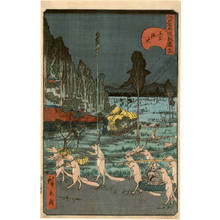 Utagawa Hirokage: Number 16: The Foxes-fires of Oji - Austrian Museum of Applied Arts