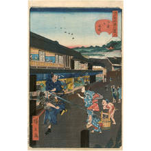 歌川広景: Number 11: Road at Shitaya Onari - Austrian Museum of Applied Arts